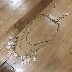 Abercrombie & Fitch Tassel Necklace